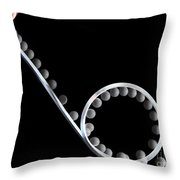 Loop The Loop Throw Pillow