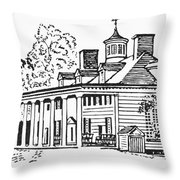 Mount Vernon Throw Pillow