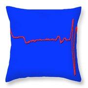 Normal Ecg Throw Pillow