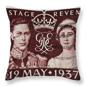 old British postage stamp Throw Pillow