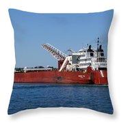 Presque Isle Ship Throw Pillow