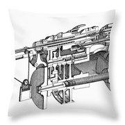 Screw-making Machine Throw Pillow
