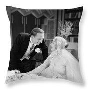 Silent Film Still: Wedding Throw Pillow
