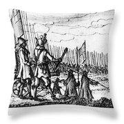 Spanish Armada, 1588 Throw Pillow
