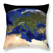 The Blue Marble Next Generation Earth Throw Pillow