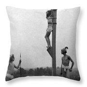The Crucifixion Throw Pillow