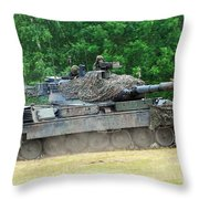 The Leopard 1a5 Main Battle Tank Throw Pillow by Luc De Jaeger