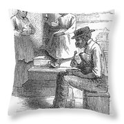 Tobacco Factory, C1880 Throw Pillow