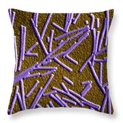 Tobacco Mosaic Virus, Tem Throw Pillow