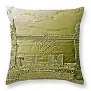 Tower Bridge Art Throw Pillow