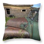 Vintage Farm Trucks Throw Pillow