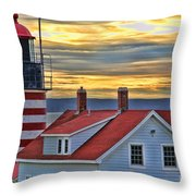 West Quoddy Head Lighthouse 3822 Throw Pillow