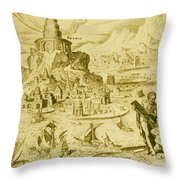 7 Wonders Of The World, Lighthouse Throw Pillow