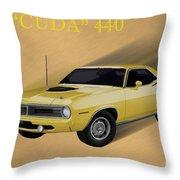 70 Cuda Throw Pillow