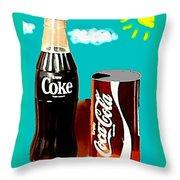 70's Coke Throw Pillow