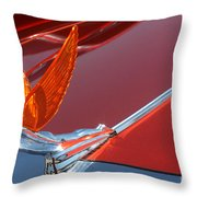 75 Caddy Emblem 7848 Throw Pillow