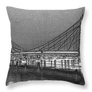 Albert Bridge London Throw Pillow