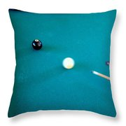 8 Ball In Side Pocket Throw Pillow
