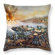 Battle Of Fredericksburg Throw Pillow