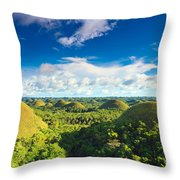 Chocolate Hills Throw Pillow
