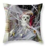Fall  Halloween On Tillson Street Throw Pillow