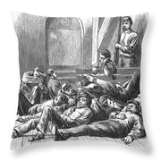 Great Railroad Strike, 1877 Throw Pillow