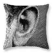 Human Ear Throw Pillow