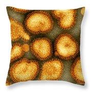 Influenza Virus Throw Pillow