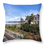 Kenmare Bay, Dunkerron Islands, Co Throw Pillow