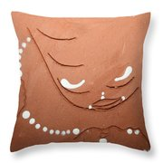 Mama - Tile Throw Pillow by Gloria Ssali