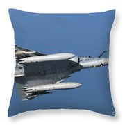 Mirage 2000c Of The French Air Force Throw Pillow
