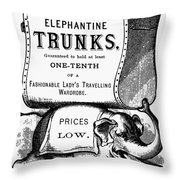 Mortised Cut, 19th Century Throw Pillow