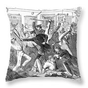 New York: Draft Riots Throw Pillow