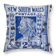 old Australian postage stamp Throw Pillow