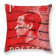 old British postage stamp Throw Pillow