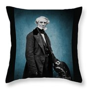 Samuel Morse, American Inventor Throw Pillow