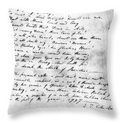 Samuel Taylor Coleridge Throw Pillow