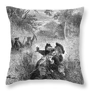 Sieur De La Salle Throw Pillow