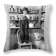 Silent Still: Children Throw Pillow