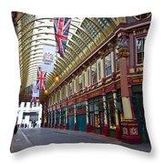Leadenhall Market London Throw Pillow