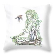 Lotus Dancer Re-imagined Throw Pillow