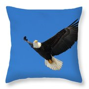 American Bald Eagle Throw Pillow