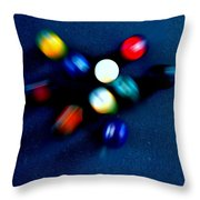 9 Ball Break Throw Pillow
