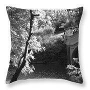 Bow Bridge In Black And White Throw Pillow