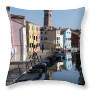 Burano.venice Throw Pillow