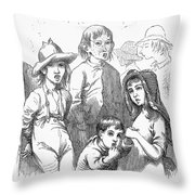 Children: Types Throw Pillow