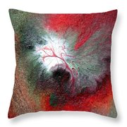 Colorful Water Color Painting Throw Pillow