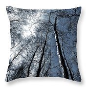 Epping Forest Trees Throw Pillow
