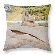 Fairytale Sand Sculpture  Throw Pillow
