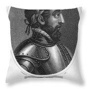 Henry II (1519-1559) Throw Pillow